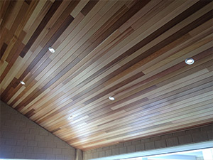 Cedar Lining on Roof in Perth Backyard