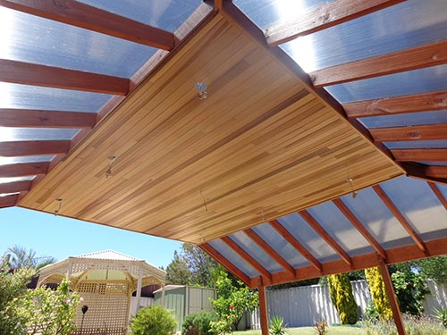 Custom Pergola Project from another angle